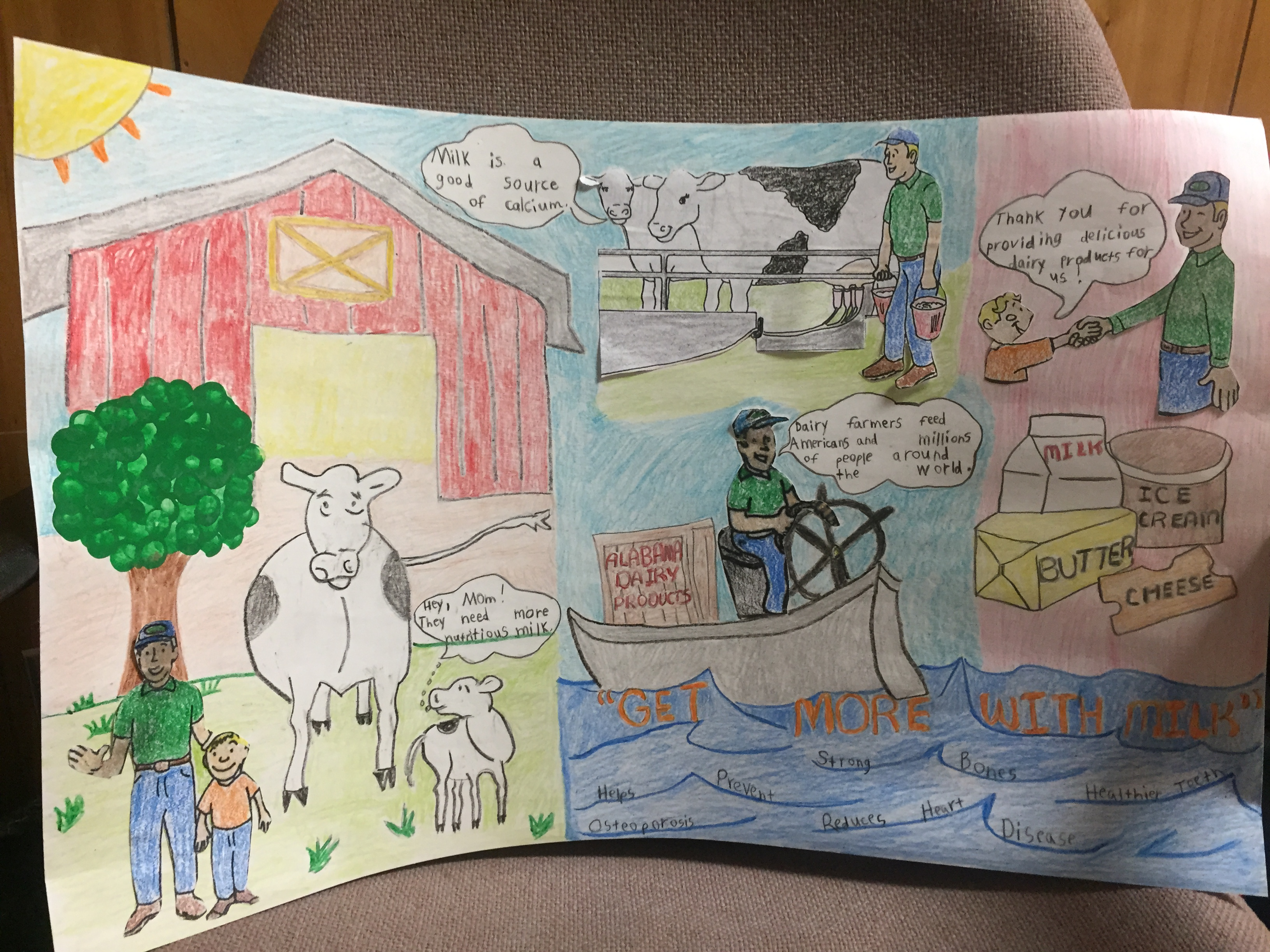 4 h poster designs - Winners Announced In 2015 4 H Dairy Poster Contest