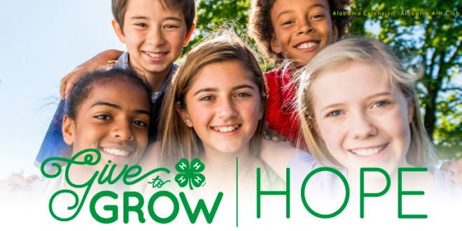 Give to Grow Alabama 4-H Campaign Kicks Off December 1