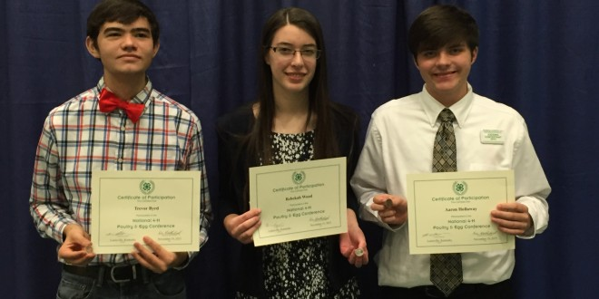 Alabama 4-H Members Win at National 4-H Poultry and Egg Conference