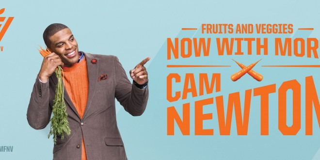 "Cam Newton and Alabama Extension's NEP Say ""Eat More Fruits and Vegetables"""