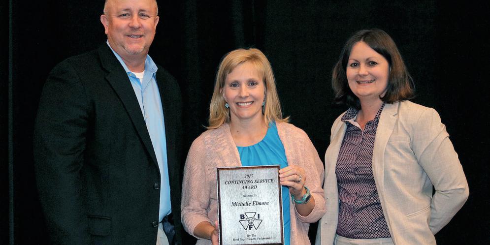 Michelle Elmore Awarded BIF Continuing Service Award